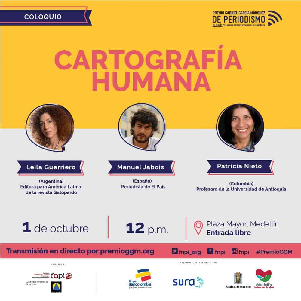 Leila Guerriero en conversación con Manuel Jabois (España) y Patricia Nieto (Colombia).