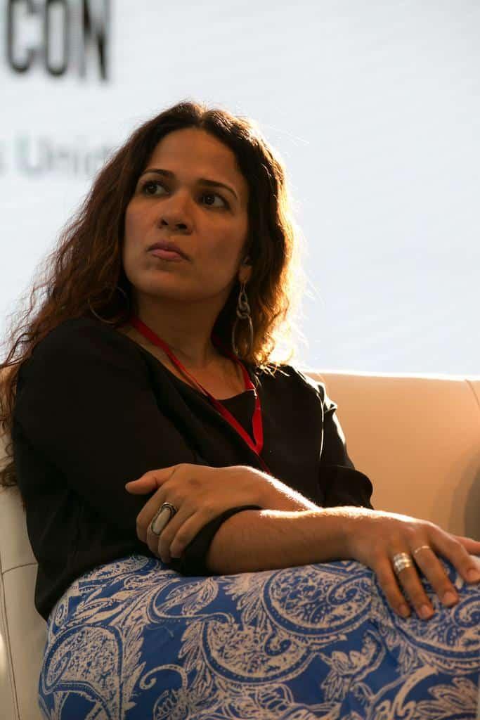 Ana Teresa Toro en la charla 'Con documentos - sin documentos' (2016). Foto: Julián Roldán/FNPI.