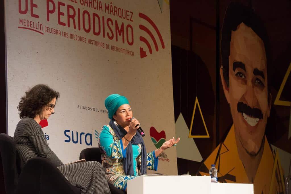 Charla 'Juglaresa del Caribe', con Telmary Díaz (Cuba) en conversación con Catalina Ceballos (Colombia). Foto: Julián Roldán Alzate/FNPI