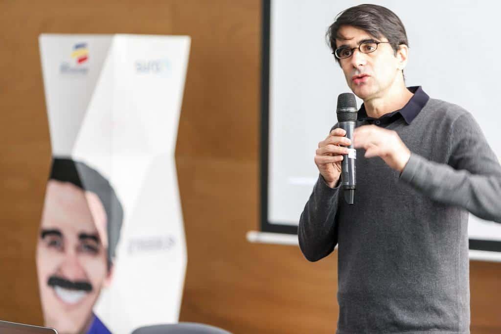 Bill Gentile en el taller ¿Qué es un documental? Foto: Julián Roldán/FNPI.