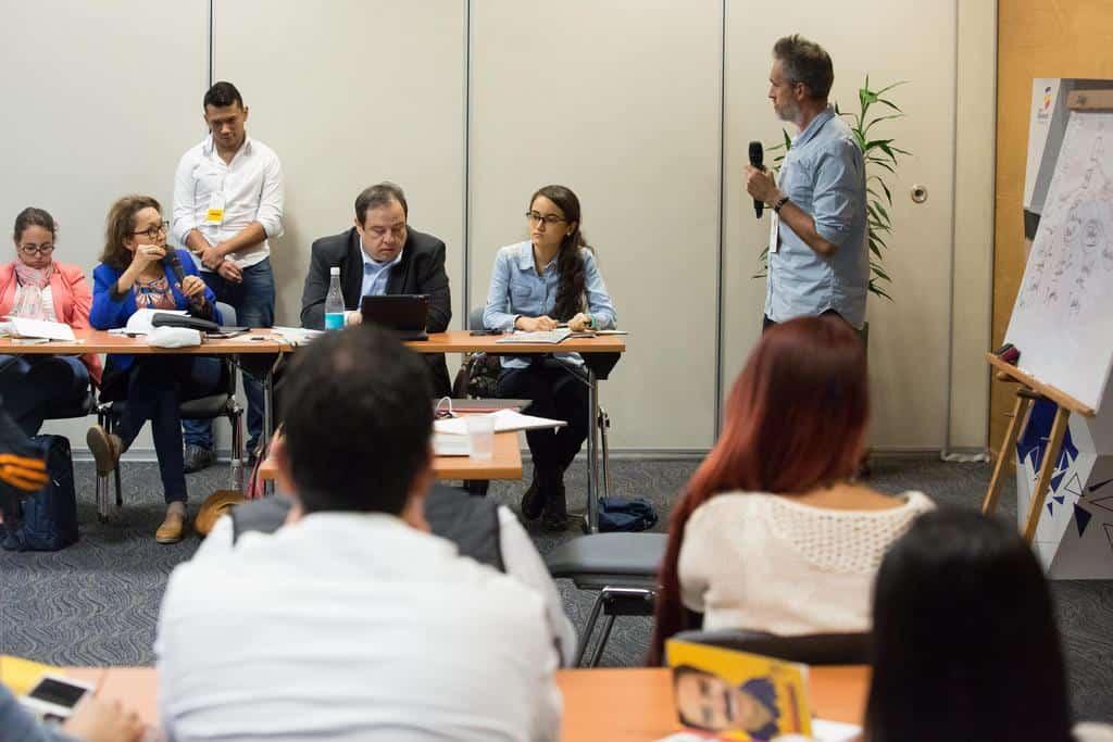Borja Echavarría en el taller ¿Cómo organizar una redacción en un mundo digital? Foto: Julián Roldán Alzate/FNPI