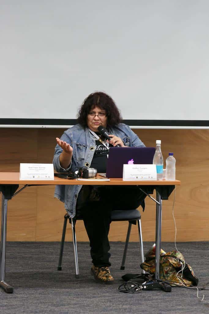 Esther Vargas en el taller Emprendimientos digitales. Foto: Julián Roldán/FNPI.