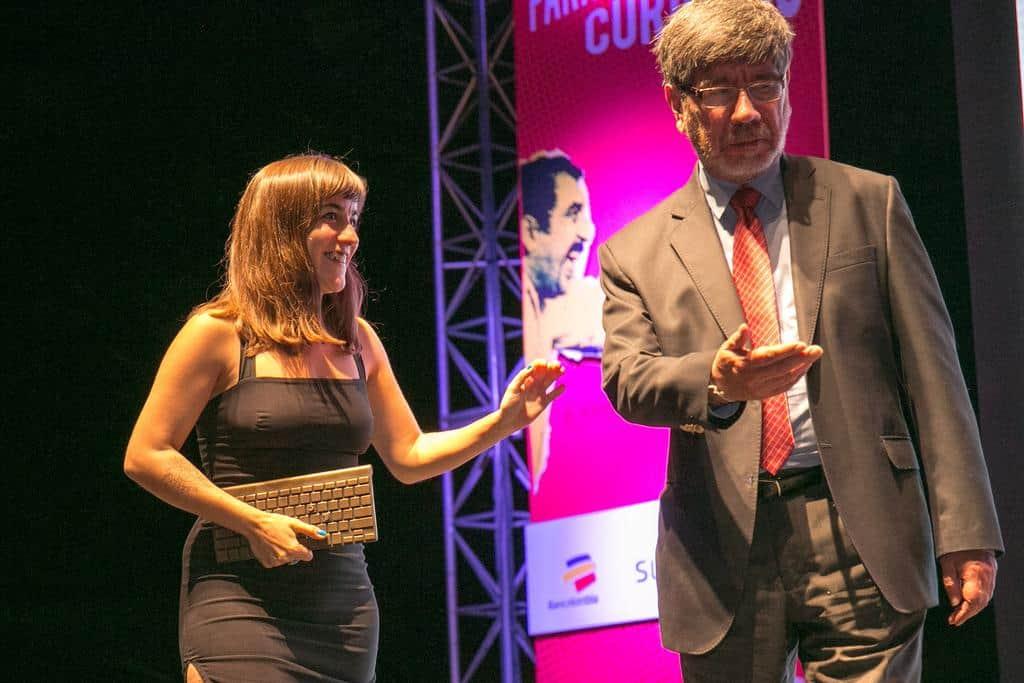 Eva Belmontte, ganadora del Premio Gabo 2016 en la categoría Innovación. Foto: David Estrada/FNPI.