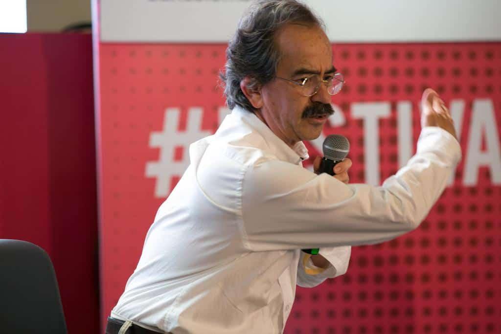 Jorge Cardona, ganador del Reconocimiento Clemente Manuel Zabala. Foto: David Estrada/FNPI.