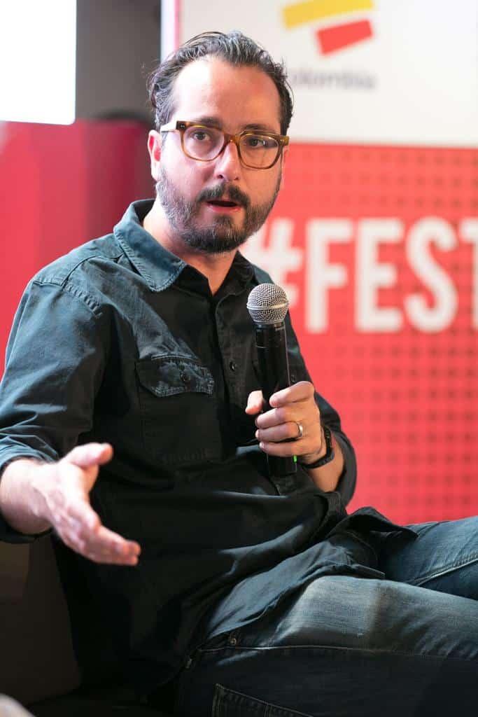 Bernardo Loyola (México) en al charla 'Vice, la tierra prometida'. Foto: Julián Roldán/FNPI.