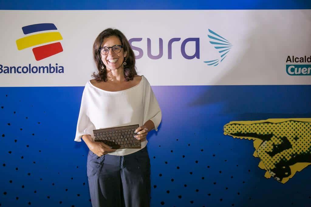 Juanita León, ganadora del Premio Gabo 2016 en la categoría Cobertura. Foto: David Estrada/FNPI.