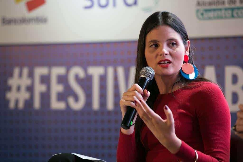 Vanessa Rosales en al charla 'Nuevas narrativas: distintas formas del deseo'.Foto: David Estrada/FNPI.