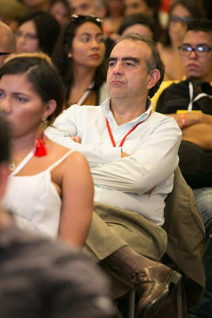 Fidel Cano en la charla 'Recuerdo de Guillermo Cano'. Foto: Julián Roldán/FNPI.