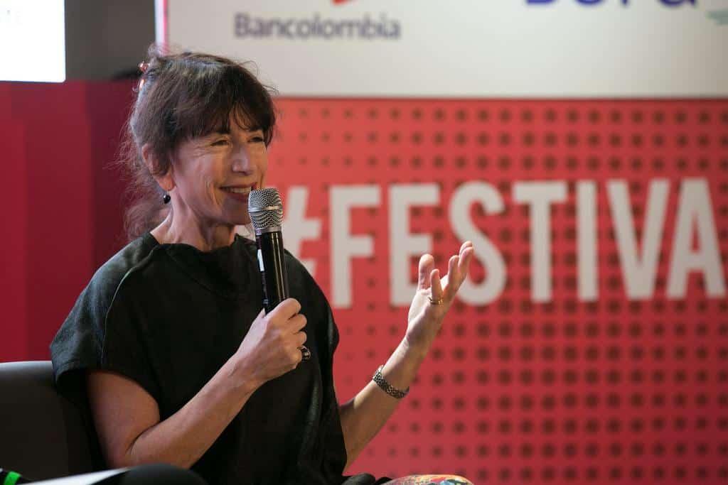 Judith Thurman en al charla 'Nuevas narrativas: distintas formas del deseo'.Foto: David Estrada/FNPI.