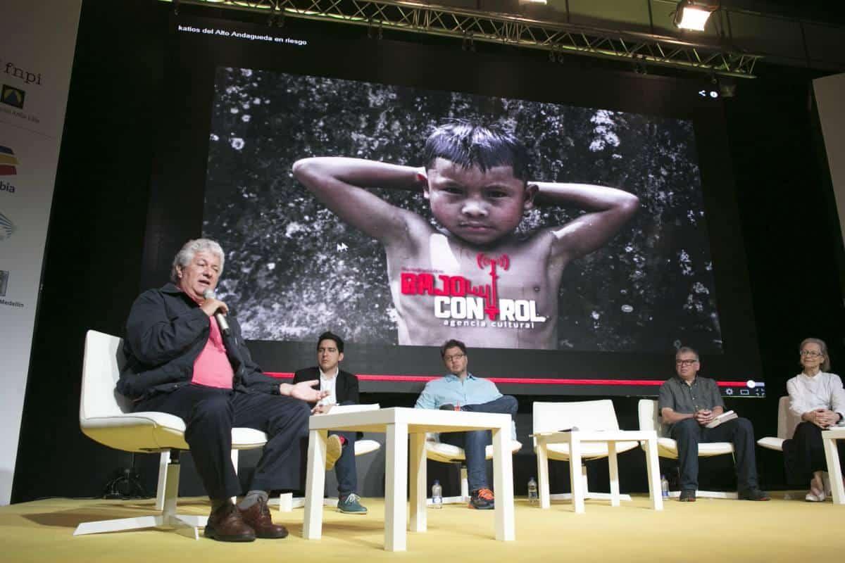 Charla Testimonios 'Artesanos insaciables de la realidad'. Foto: David Estrada/ FNPI.
