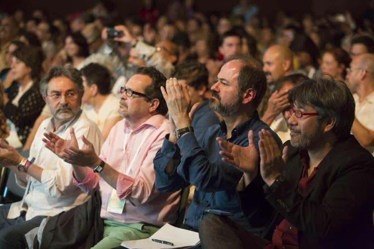 Tercer día: charla 'Gabo, la crónica y la música'. Foto: David Estrada/ FNPI.