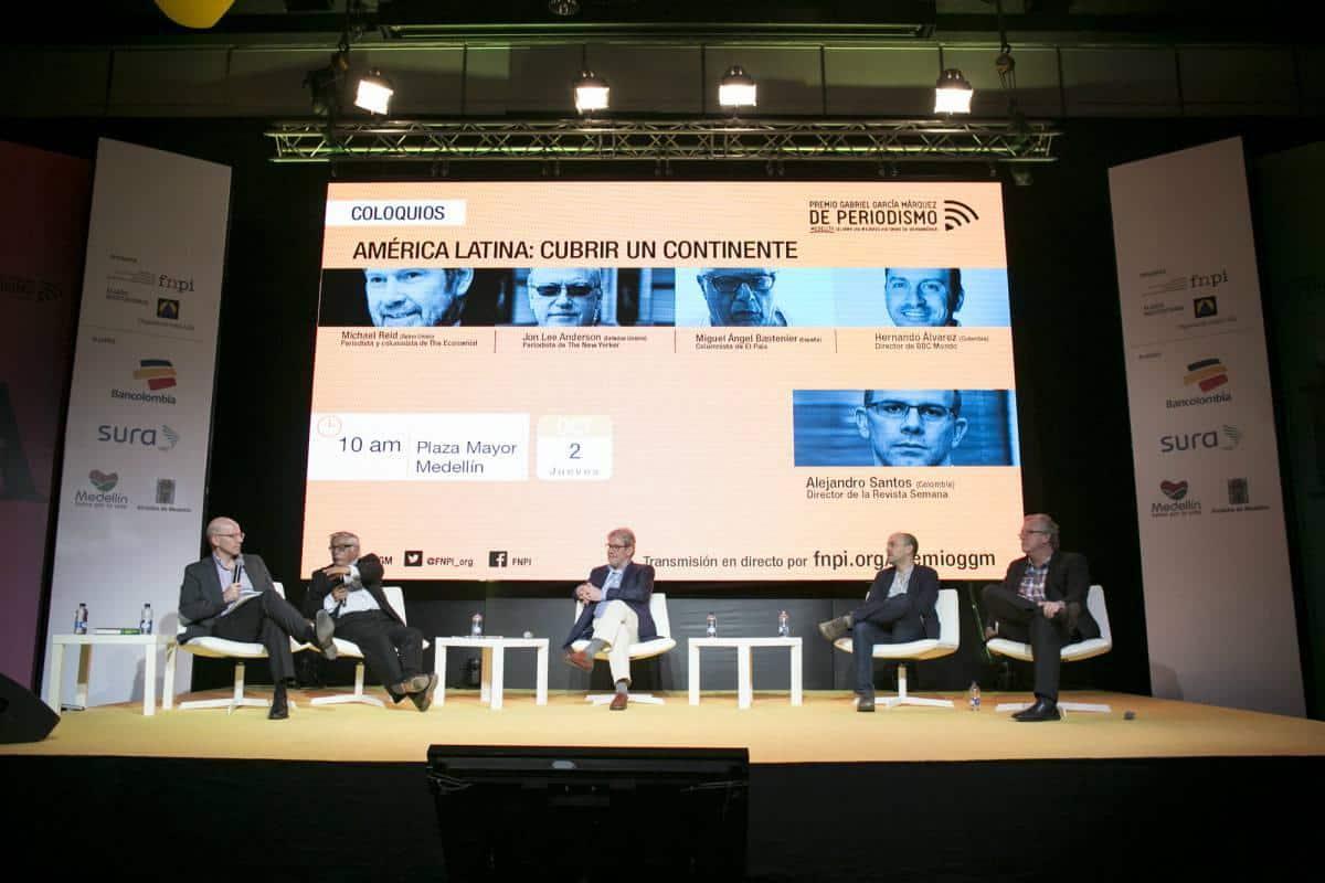 Panel sobre periodismo y América Latina 'Cubrir un continente'. Foto: David Estrada/ FNPI.