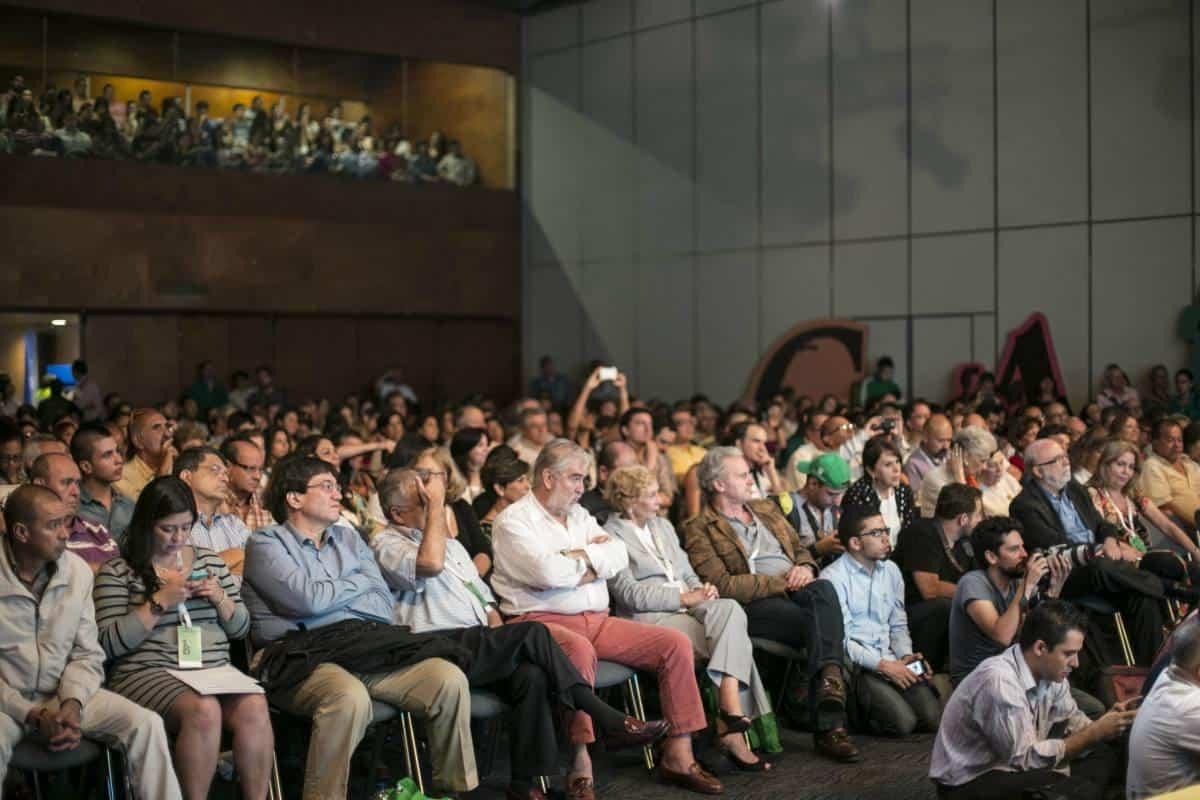Tercer día: charla 'Los amigos echan cuentos de Gabo'. Foto: Julián Roldán/ FNPI.
