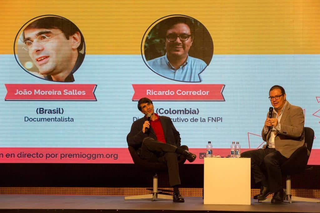 Coloquio con João Moreira Salles (Brasil), en conversación con Ricardo Corredor (Colombia. Realizado el jueves 1 de octubre en Plaza Mayor, Medellín, Colombia.Foto: David Estrada Larrañeta /FNPI