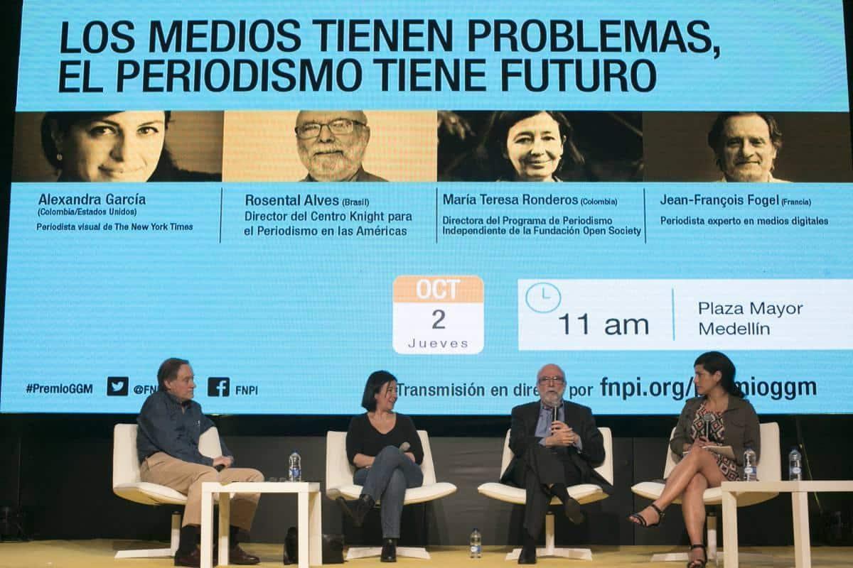 Charla de periodismo en transformación 'Los medios tienen problemas, el periodismo tiene futuro'. Foto: David Estrada/ FNPI.