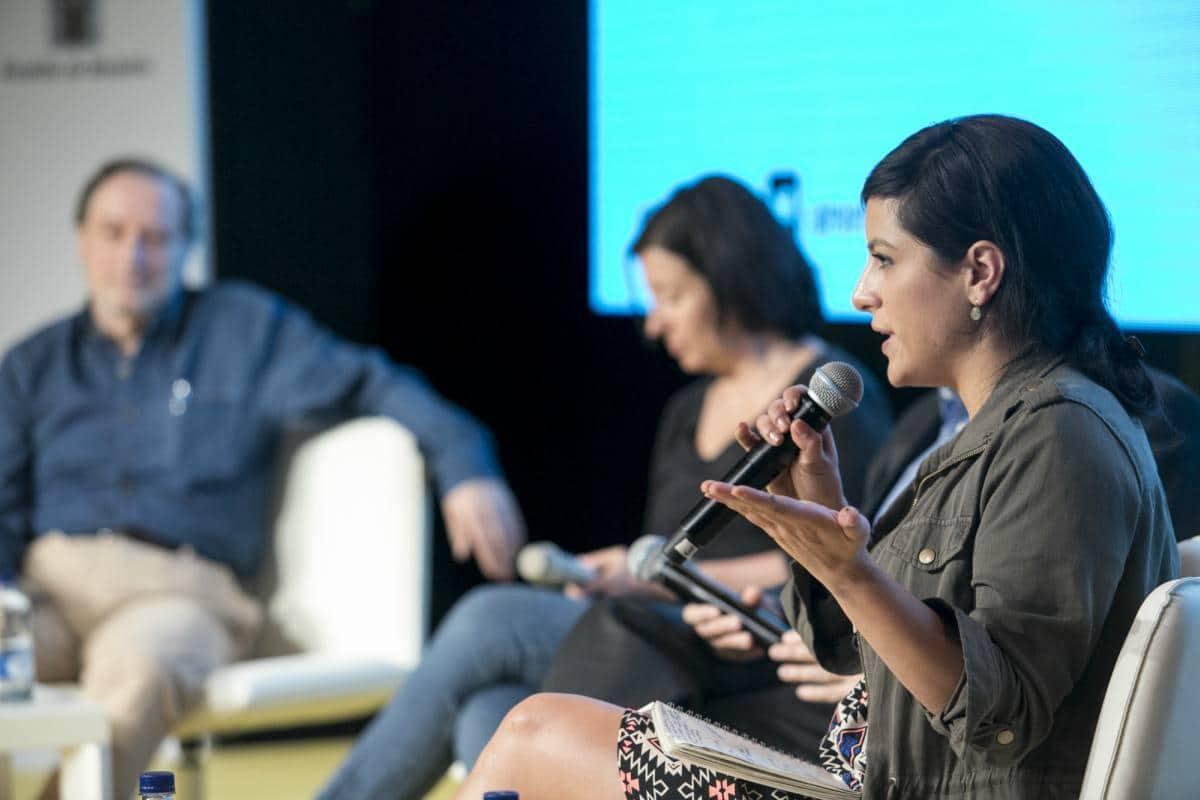 Charla sobre periodismo en transformación 'Los medios tienen problemas, el periodismo tiene futuro'. Foto: David Estrada/ FNPI.