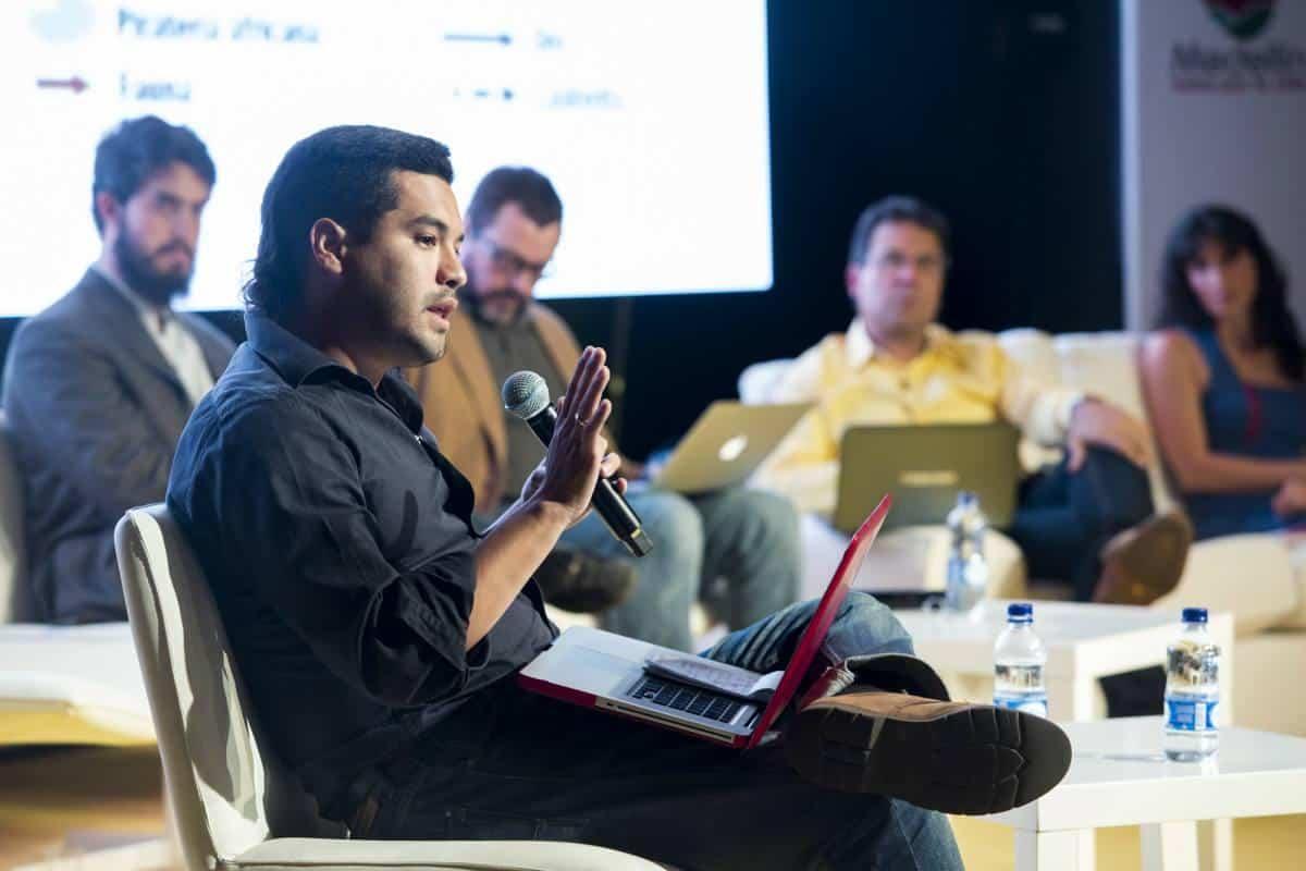 Segundo día: charla Testimonios 'Contra el silencio, periodismo'. Foto: David Estrada/ FNPI.