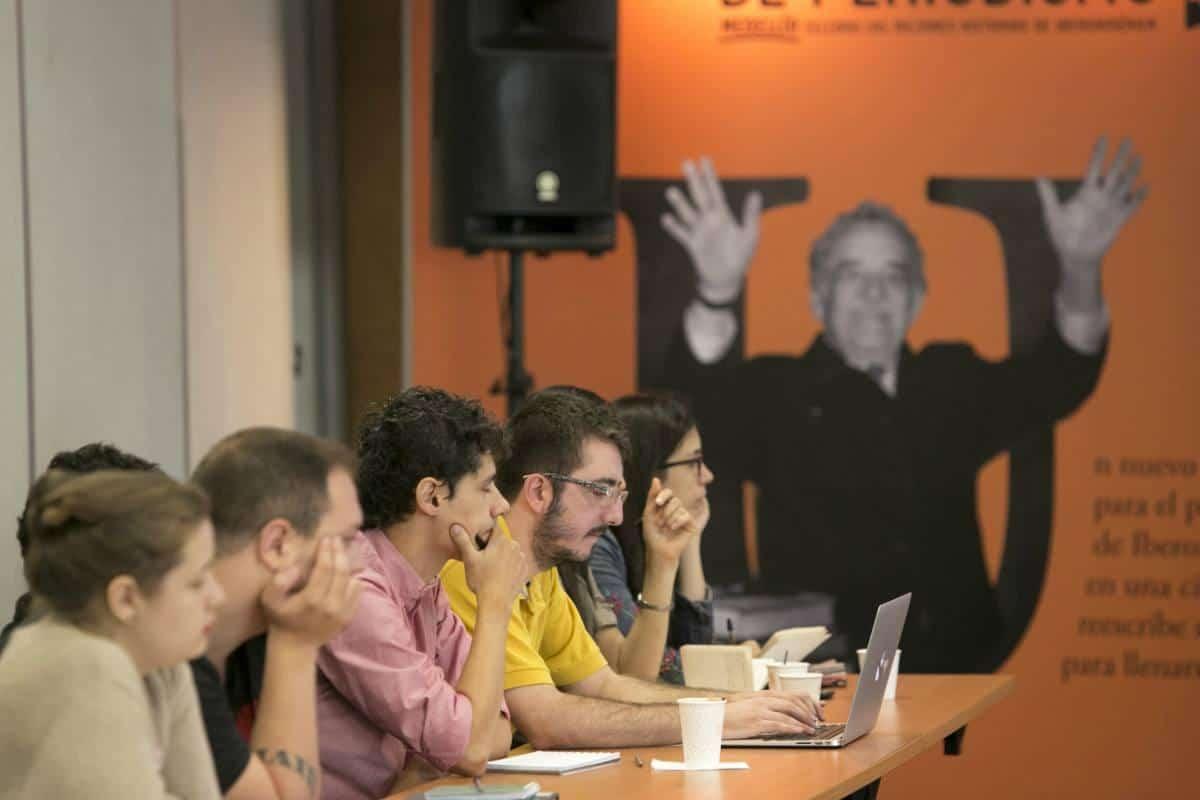Tercer día: Taller de visualización de datos con Xaquín González. Foto: Julián Roldán/FNPI