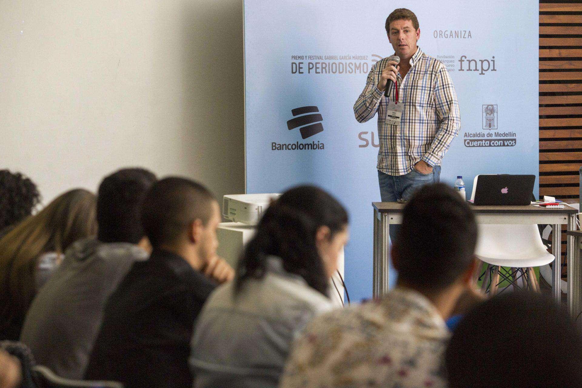 El periodista argentino Gastón Roitberg, secretario de redacción del diario La Nación, expuso los principales retos de las salas de redacción del futuro. Foto: David Estrada.