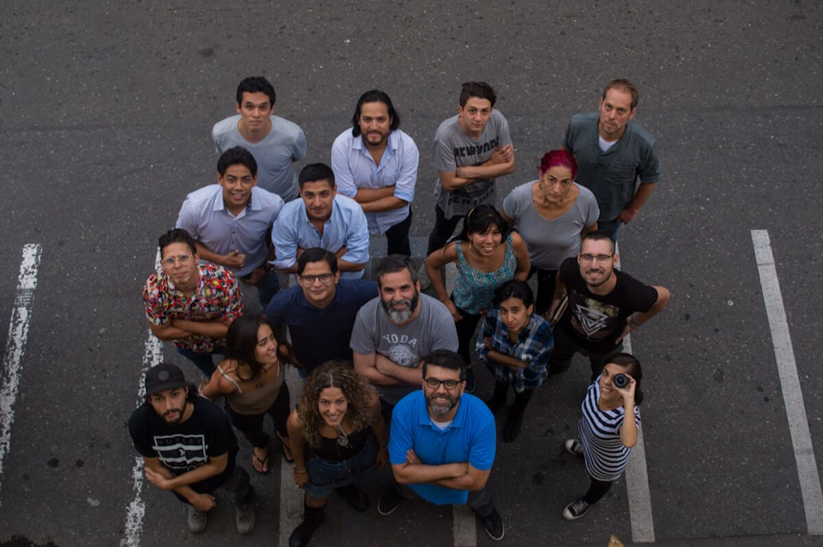 Participantes del taller Visión y expresión fotográfica, con Gihan Tubbeh. Foto: Juan David Tamayo M / FNPI