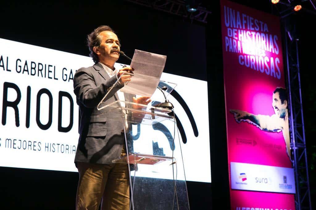 Jorge Cardona, ganador al reconocimiento Clemente Manuel Zabala. Foto: David Estrada/FNPI.