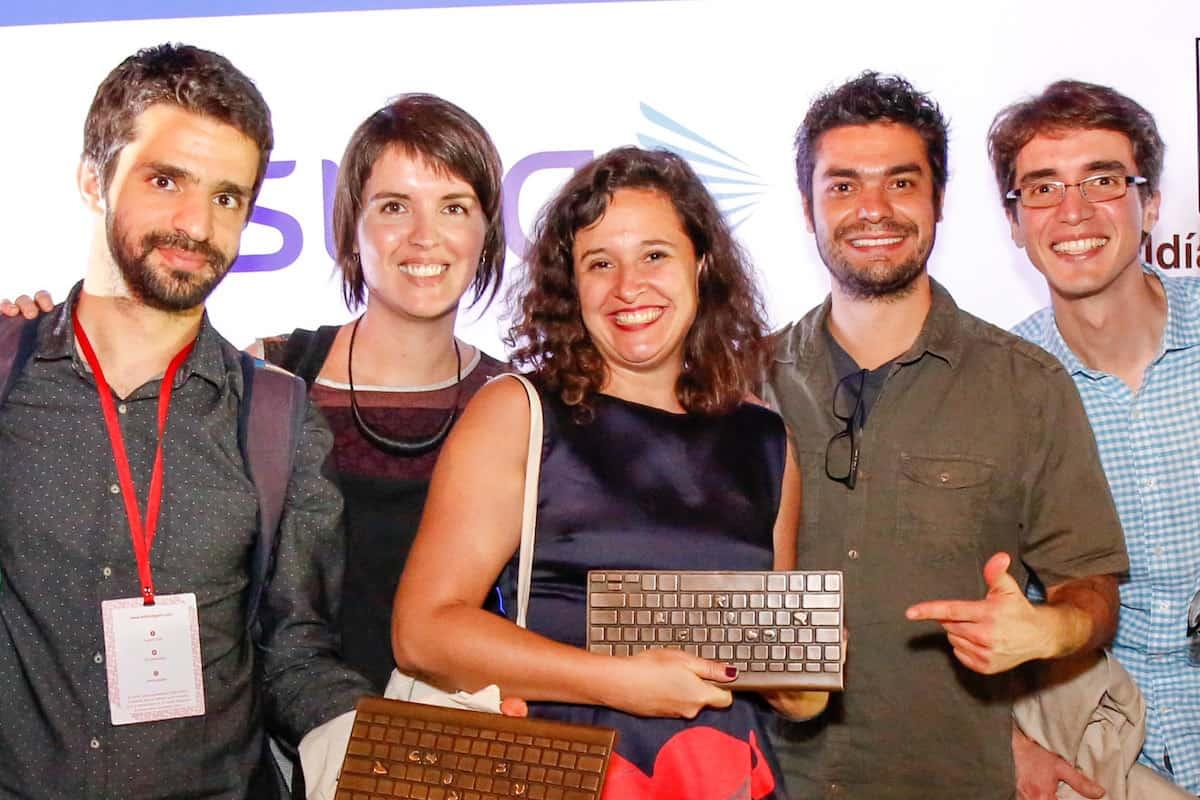 Natalia Viana, Caio Cavechini, Carlos Juliano Barros, Ana Aranha y Caue Angeli Ramos.