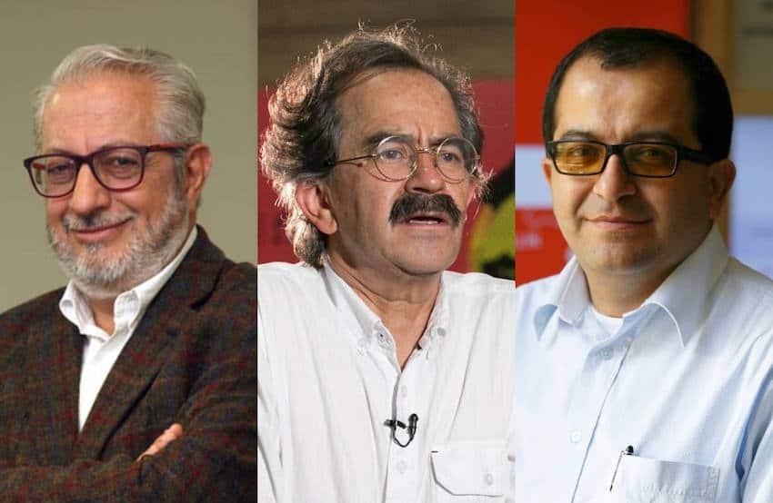 Mauricio Sáenz, Jorge Cardona y Fernando Ramírez, ganadores del Reconocimiento Clemente Manuel Zabala.