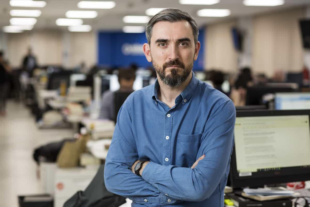 Ignacio Escolar, ganador del Reconocimiento a la Excelencia del Premio Gabo 2018.