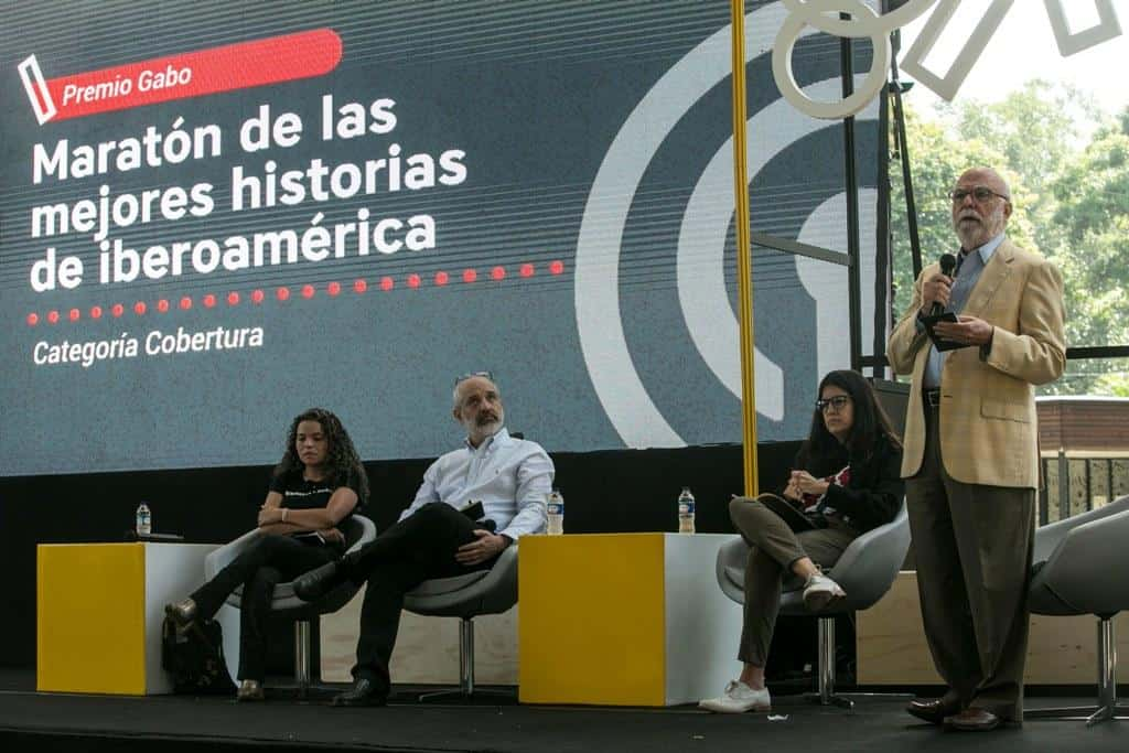 Maratón de las mejores historias de Iberoamérica, categoría Cobertura. Foto: David Estrada Larrañeta/FNPI.