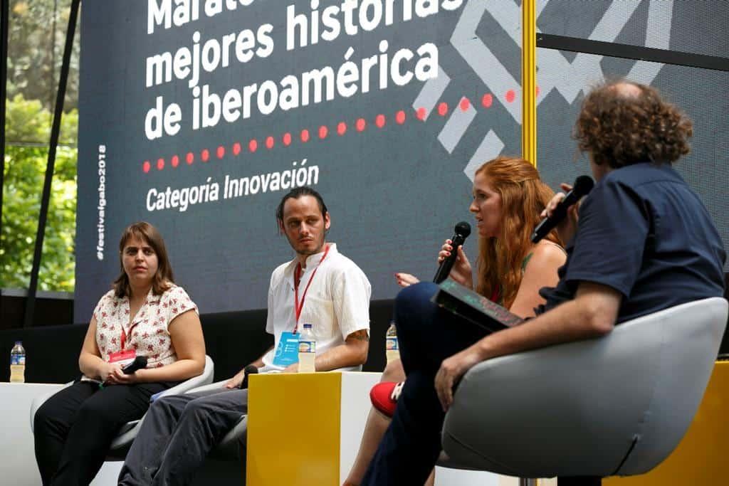 Maraton de las mejores historias de Iberoamérica, categoría Innovación. Foto: Julián Roldan/FNPI.