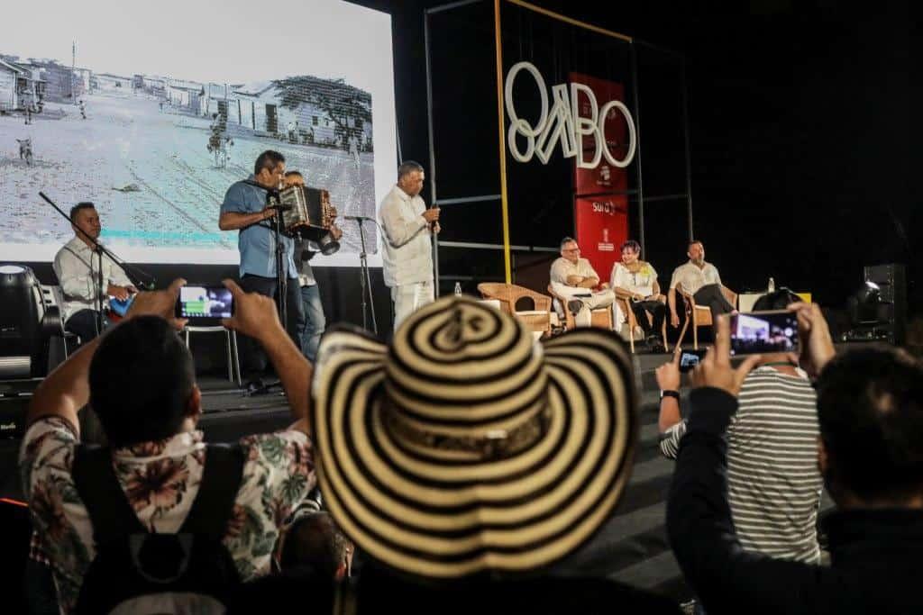 Tertulia vallenata en el Festival Gabo 2018. Foto: Joaquín Sarmiento/FNPI.
