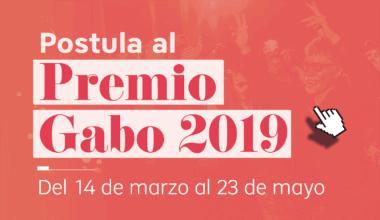 Banner para postular al Premio Gabo 2019