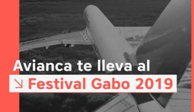 Banner descuentos en Avianca para viajar al Festival Gabo.