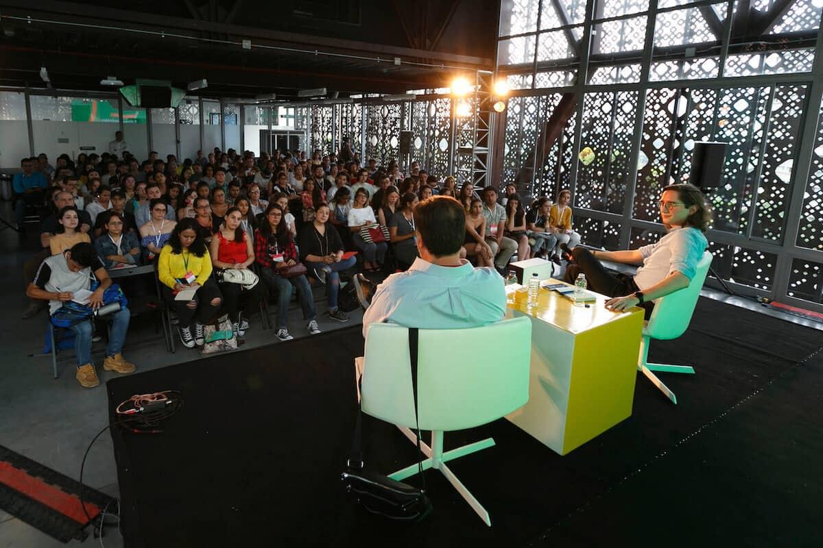 Charla Editar opinión en el Festival Gabo 2018.