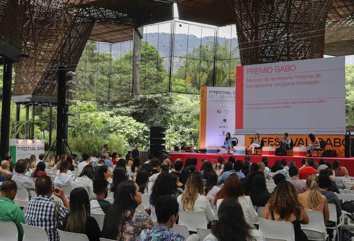 Maratón de las mejores historias de la categorías Innovación. Foto: Joaquín Sarmiento / Fundación Gabo.