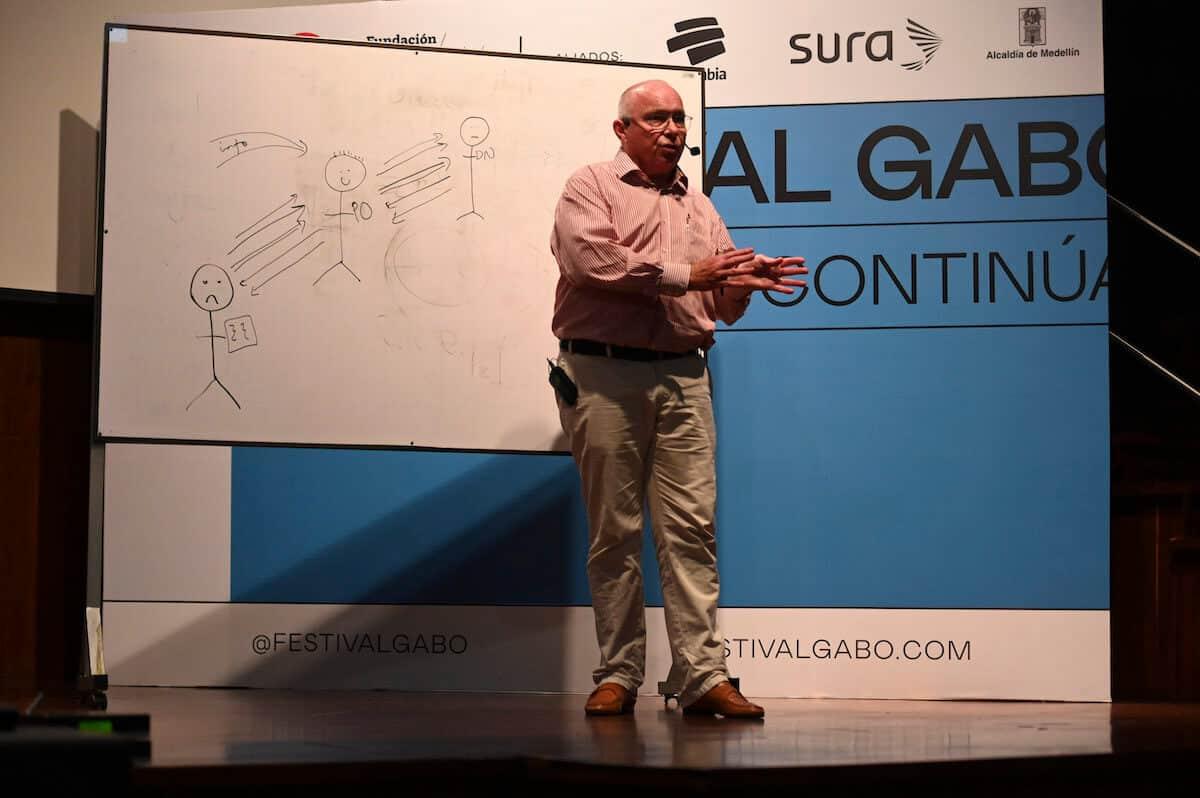 Ola Sigdvarsson, defensor del lector en Suecia, en el Festival Gabo.