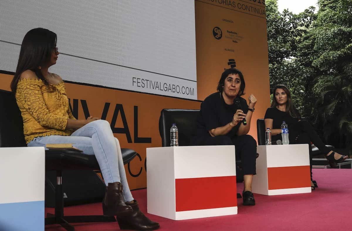 Maratón de las mejores historias de la categorías Cobertura. Foto: Joaquín Sarmiento / Fundación Gabo.