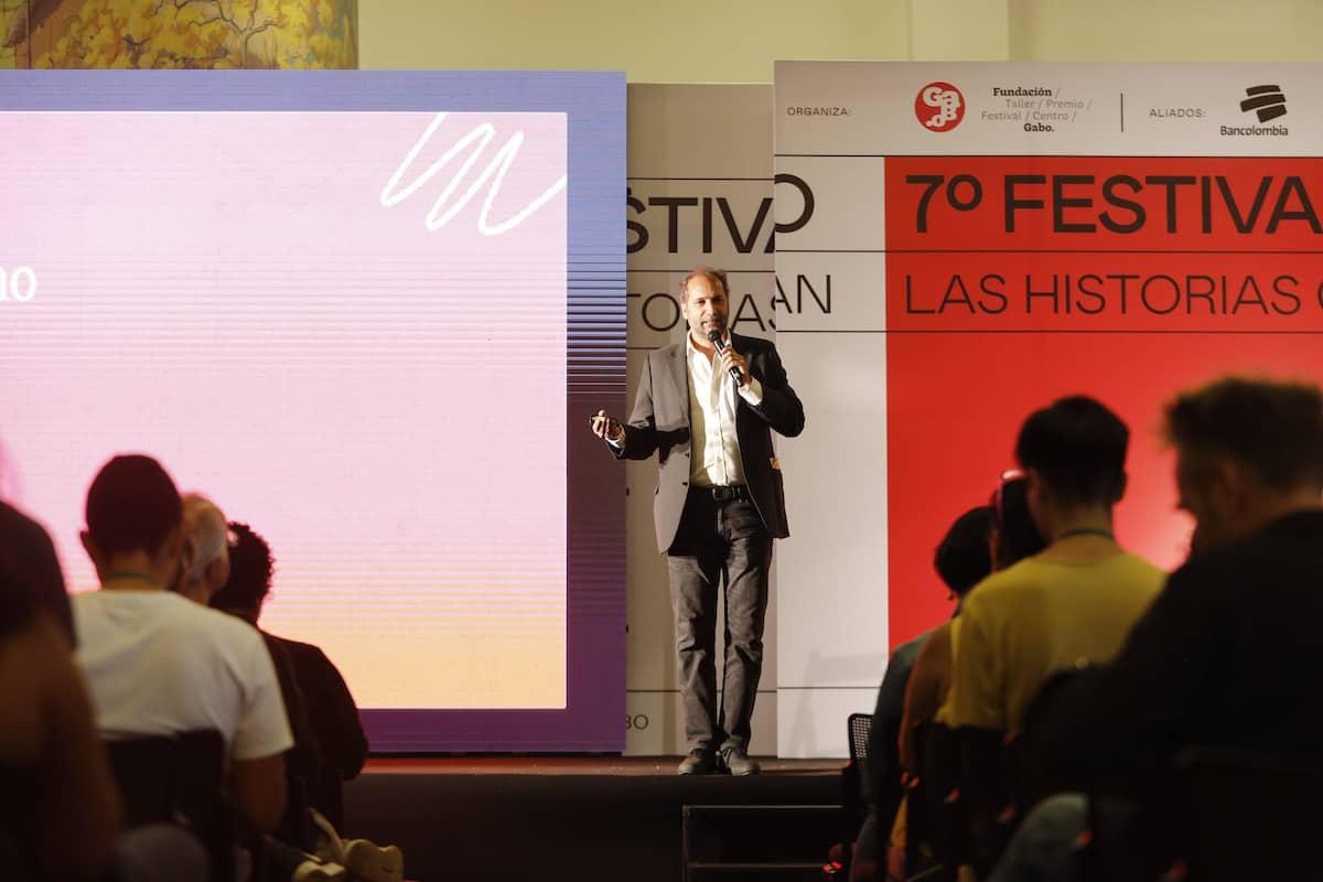Chani Guyot, director de Red/Acción, conversó con los asistentes al Festival Gabo 2019.