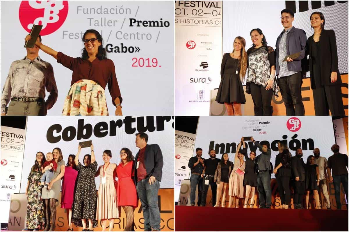 Ganadores del Premio Gabo 2019.