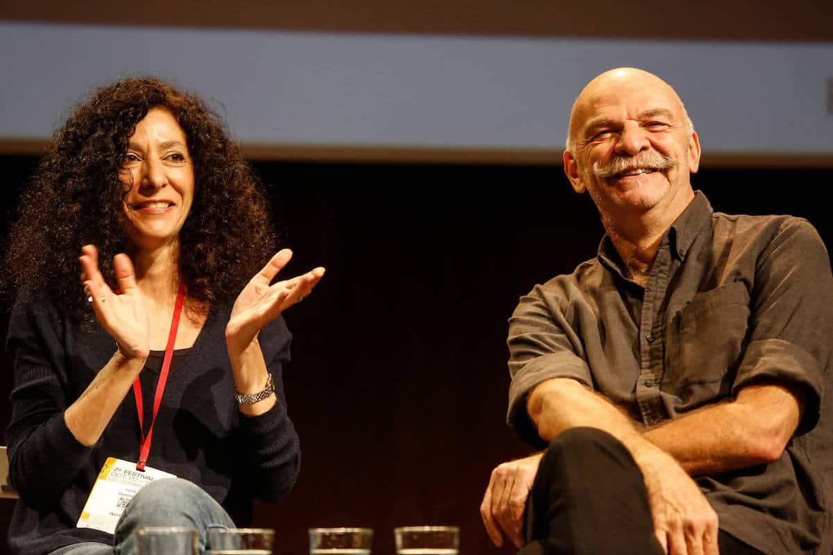 Leila Guerriero y Martín Caparrós durante la charla Libros periodísticos: el refugio del mejor periodismo.