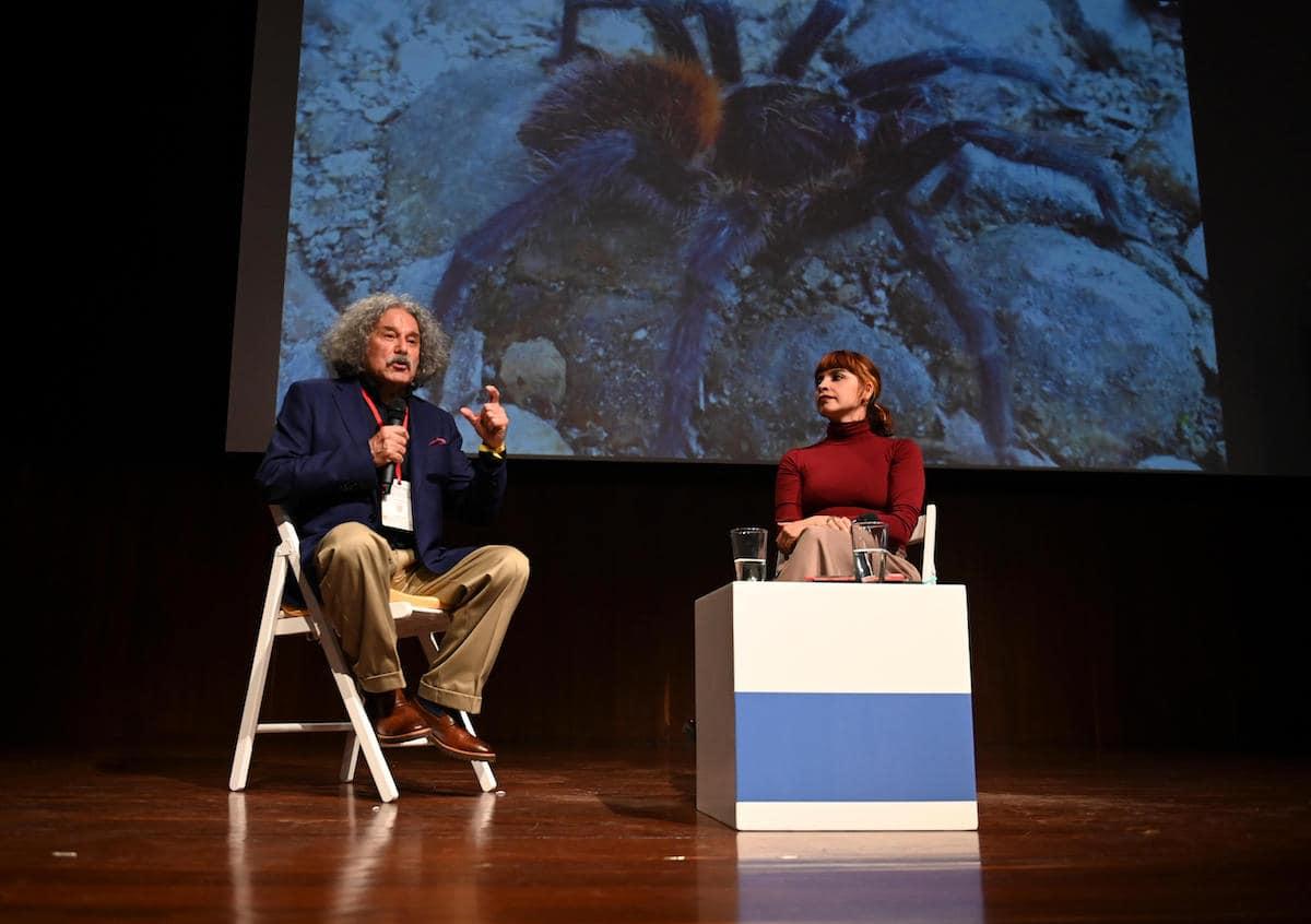 La charla El rastro de las hormigas coloradas en Macondo contó con la participación de Aristóbulo López y Yesica Prado.